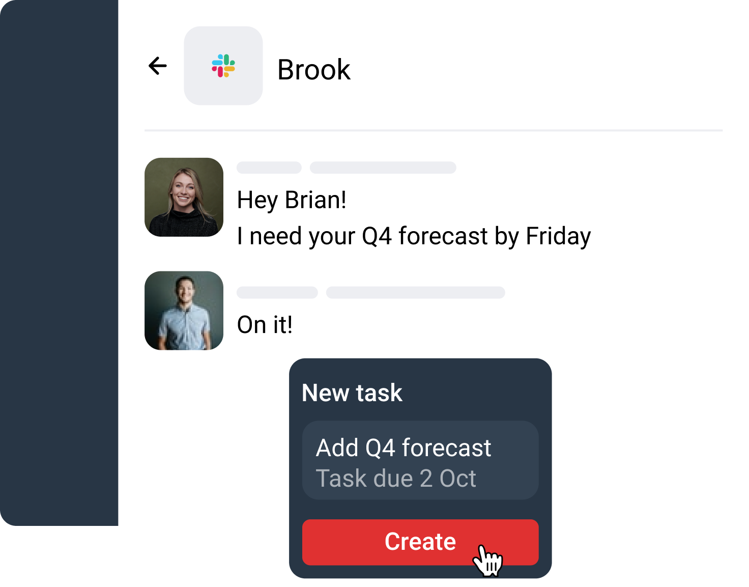 Convert messages and meetings into tasks